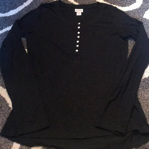 Mossimo Supply Co. Black Long Sleeve Shirt